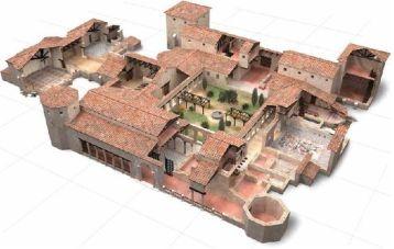 Recontrucción de la villa romana de la Olmeda. Fuente en: http://bit.ly/2hFaSkD